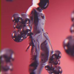 astronaut circle purple background wallpaper blur be-creative freetoedit be