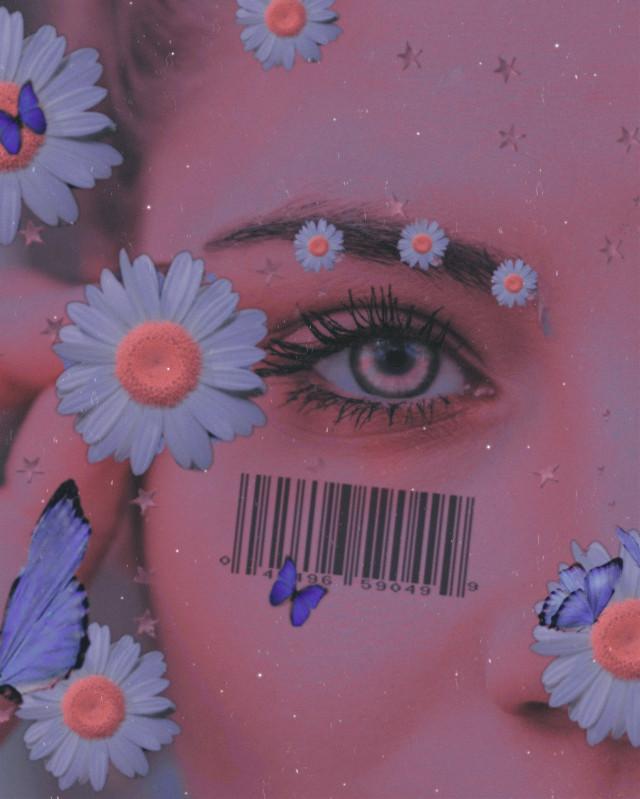 #eye #daisies #flowers #butterflies #purpleeffect #barcode @freetoedit @picsart #featureme