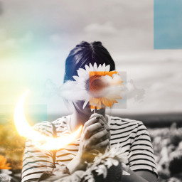 idol sky sun flower freetoedit