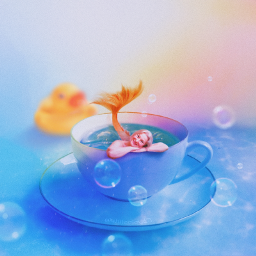 mermaid madewithpicsart cup magic surreal bubblesoap madebyme mermaidtail