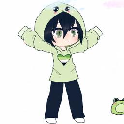 gachaedit gachaclub freetoedit froggie cute