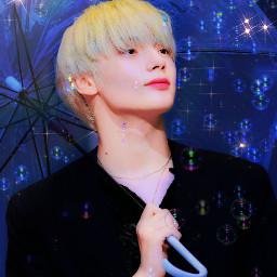 tomorrowxtogether txt txtkaihuening kai hueningkai_txt kai_edit bubbles rainbow freetoedit
