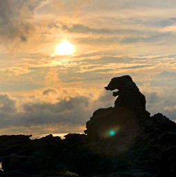 landscape sunset japan oga godzilla rock hdr profile pcadaytoremember adaytoremember