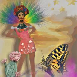 frida fridakahlo unibrow_queen myart freetoedit picsart