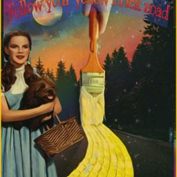 designbyjaz paintbrush yellow wizardofoz fantasy road