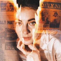 freetoedit newspaper burn burning film