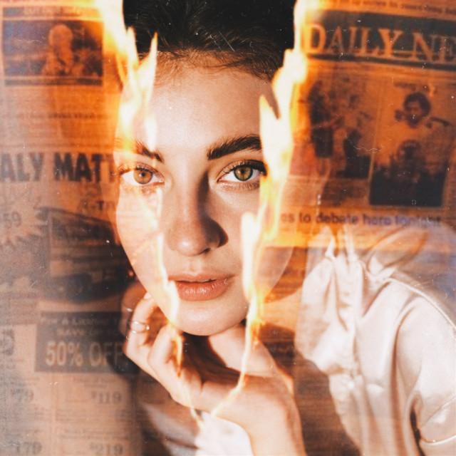 #freetoedit #newspaper #burn #burning #film