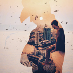 freetoedit doubleexposure city silhouette doublexposure madewithpicsart skyscape