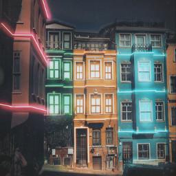 night build street neon