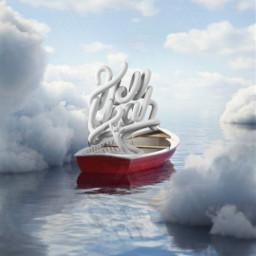 background walpaper sky blue lake be_creative text boat reflection freetoedit