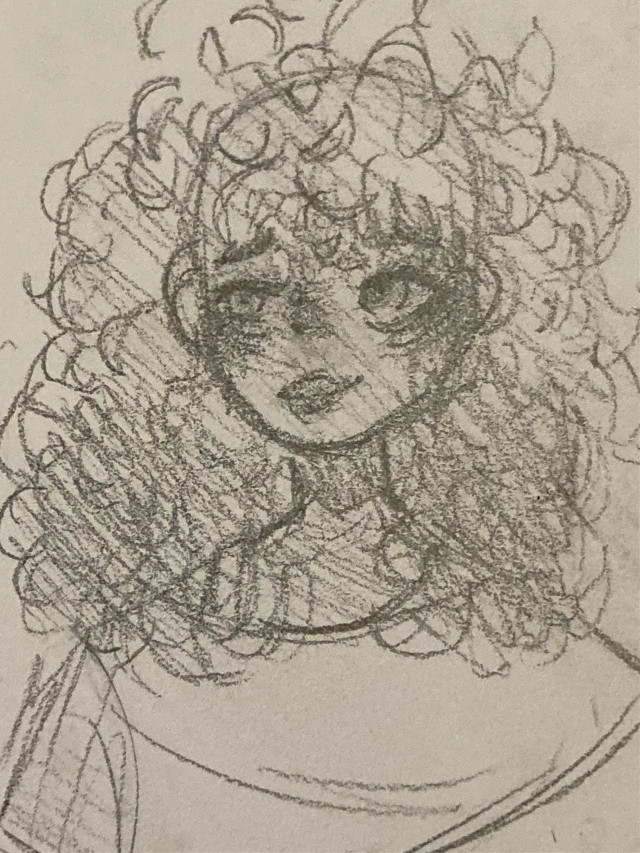 doodle of a girl from pintrest! <3  #art #artist #girl #drawing #cute