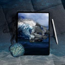 sea challenge freetoedit scary monster shipwreck storm shell blue mobilescreen picsart ircgetcreative getcreative