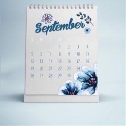 freetoedit septembercalendar september calendar flowers blue challenge srcseptembercalendar2021 septembercalendar2021