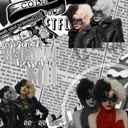 freetoedit cruella emmastone cruelladevil edit replay cool baw blackandwhite aethsetic 101dalmatians