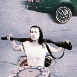 manhole rifle hunting