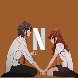 freetoedit horimiya brown brownicon iconbrown animeicon appbrown brownapp iconapp appicon animeapp appanime