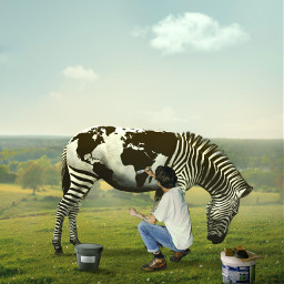 painting animal picsartedit worldmap creative minimalism sunnyday