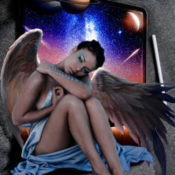 byme art artwork surrealart challenge picsartchallenge friends love galaxy planets freetoedit picsart ircgetcreative getcreative