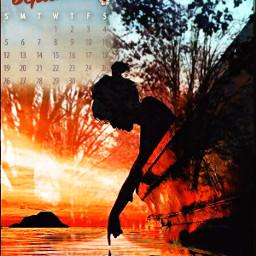september calendar autumn fall sakibg leaves lane autumnleaves overlay doubleexposure slihouette girl freetoedit local srcseptembercalendar2021 septembercalendar2021