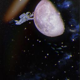 freetoedit freetoeditremix galaxy astronaut moon lights stars frame friend friends nature simple try picsartunicorn picsart1billion cool happy cute dj mixing club pic nice quote remix