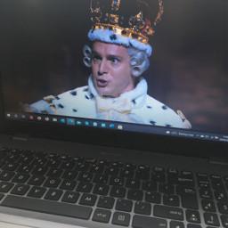 freetoedit hamilton hamilfilm musical laptop oldasslaptop crustymusty kinggeorge hamilfan hamfan spit johnathangroff