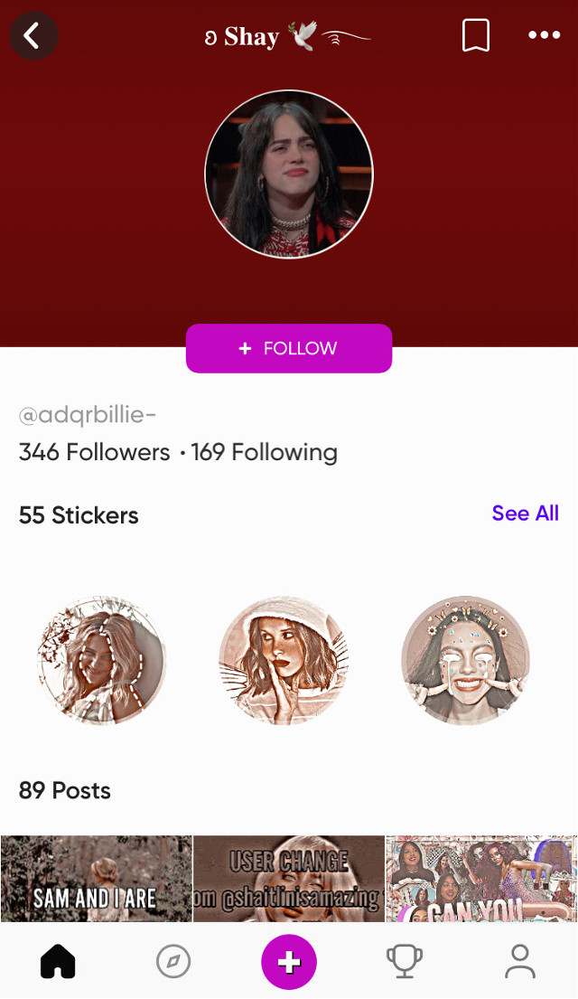 @adqrbillie- stop fucking impersonating im the real shay fucking stop #_