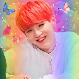 bts btsarmy bangtansonyeodan minyoongi suga suga_bts minyoongiedit btssuga yoongiedit pink rainbow lastedit freetoedit local