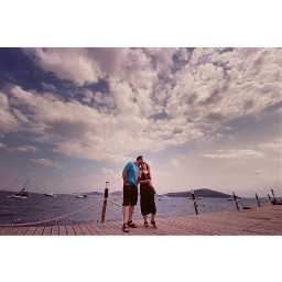 love kiss couple relationship cloudysky nature full_length autopostproductionfilter togetherforever transferprint adult water sea leisuretime land beach lifestyle people