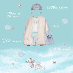 freetoedit soft blue fashion outfit png polyvore princess pastel sea mermaid default clothes softgirl lovely pale girly girl cute ocean queen filler white aesthetic moodboard
