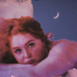 freetoedit dreamy sky clouds girl moon