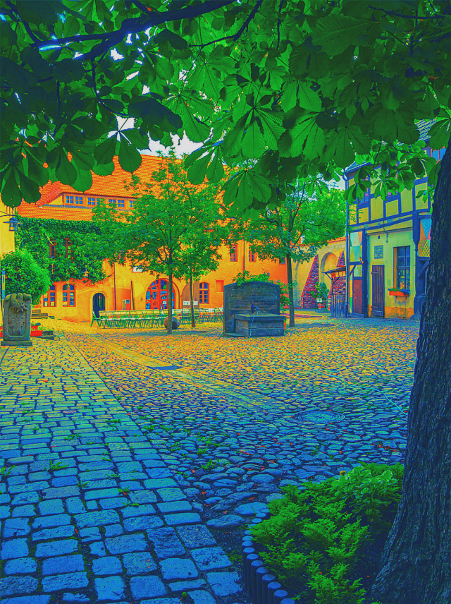 #outside #oversaturated#buildings #trees
