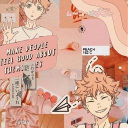 freetoedit haikyu hinata hinatashoyo anime peachy interesting aethetic cute japan japanese