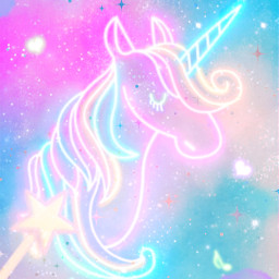 freetoedit glitter sparkle galaxy sky stars magic dream unicorn animal fantasy neon clouds pastel cute kawaii aesthetic overlay background replay