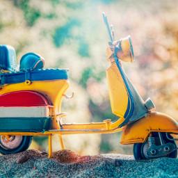 freetoedit photography sunset landscape reflection italy travel summer vintage retro model sand motorcycle vespa bokeh local