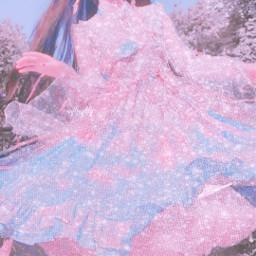 cute pink glitter kawaii soft girly blue pastel pale sweet girl dress princess light angelic dream dreamy angelcore shine aesthetic softcore softgirl japan japanese sugar freetoedit