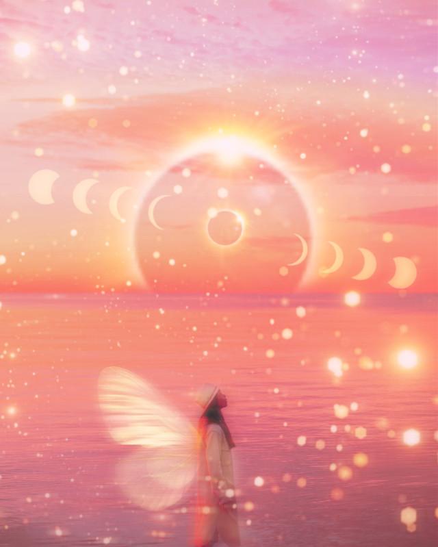 #angel #butterfly #eclipse #moon #bokeh #stars #blur #motion
