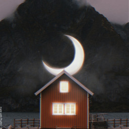 moon light scary freetoedit