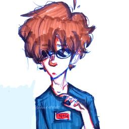 - e idk whydoihavetoaddahashtag freetoedit remixit interesting oc art anime whatamidoingwithmylife drawing sketch stuff myart lol portrait fanart georgenotfound mcyt dreamsmp gogy local