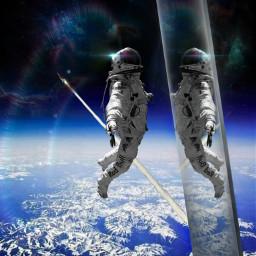 freetoedit astronaut planet universum raumschiff