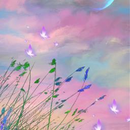fantasyart background backgrounds backdrop landscape scenery aesthetic colorful pastelcolors heypicsart picsartmaster masteredit myedit madewithpicsart freetoedit