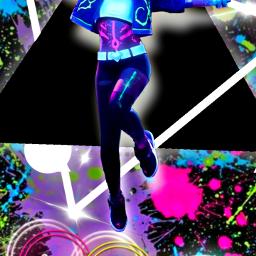 freetoedit neon neonlight neoneffect neonsigns2021 neonlights neonsigns girl animegirl paintsplash paintsplatter splashcolor splatter picsart ecneonsigns2021