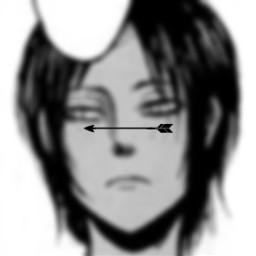 freetoedit ymir aot attackontitan attackontitans snk shingekinokyojin right manga spacer blur blurred arrow black white anime edit