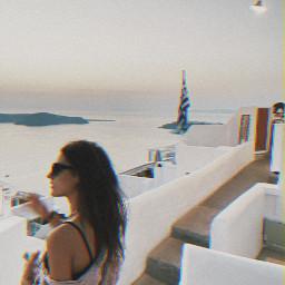 freetoedit freetoeditremix greece santorini island city cityview aesthetics green moon lights stars frame friend friends nature simple try picsartunicorn picsart1billion cool happy cute dj mixing