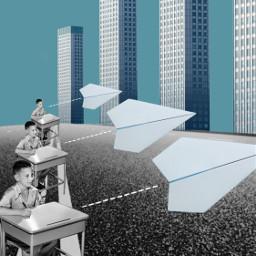 freetoedit paperairplane classroom child city ircpaperplane paperplane