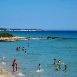 landscape nature bluesky bluesea beach sand people ioniansea italy freetoedit myphotography