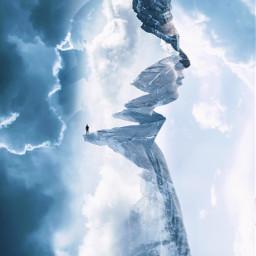 freetoedit mountain clouds sky blue