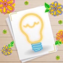 neon lightbulb neonflowers freetoedit picsart ecneonsigns2021 neonsigns2021