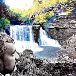 photography photo man deepthoughts freelancephotographer freelancephotography waterfall hawaii pose color splashofcolor