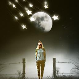 stars blackbackground darkbackground moonaesthetic screen shadow picsartchallenge freetoedit srctrendystars trendystars