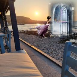 surrealart fantasy sunset sunsets beach freetoedit local